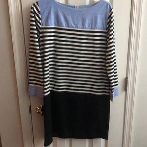 LOFT black and white shirt dress